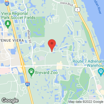 Map of Nowokere Esemuede, MD at 8055 Spyglass Hill Road, Melbourne, FL 32940