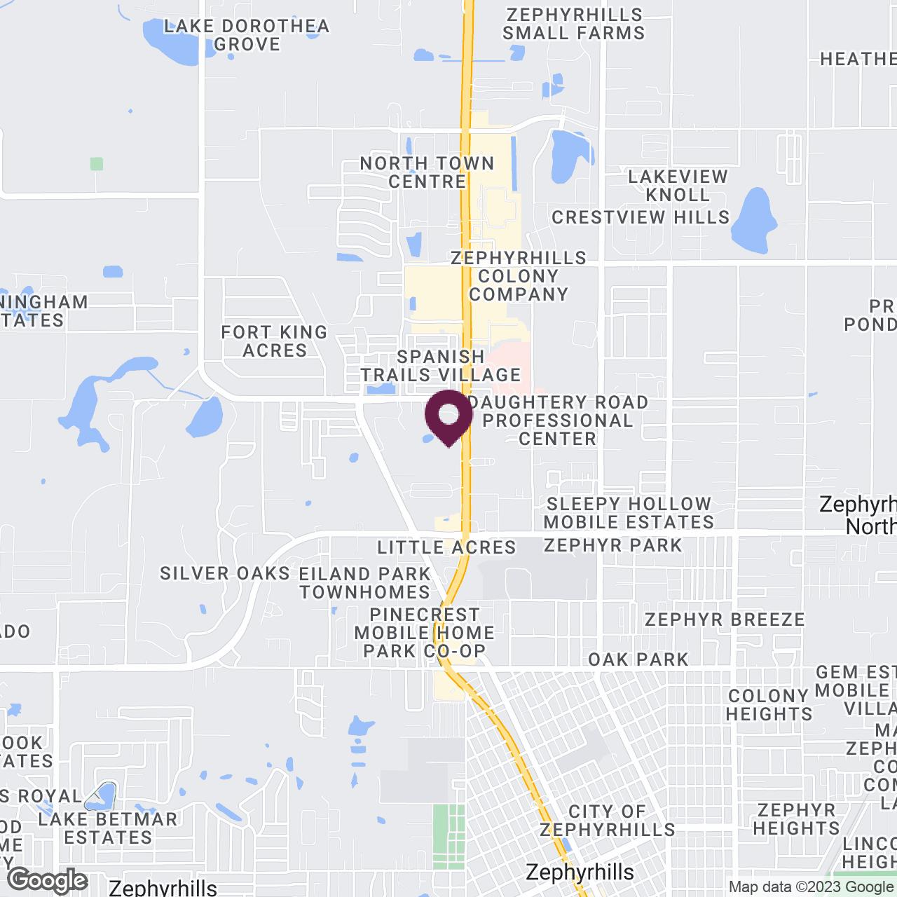 Google Maps static image of Wesley Chapel, Zephyrhills, Dade City