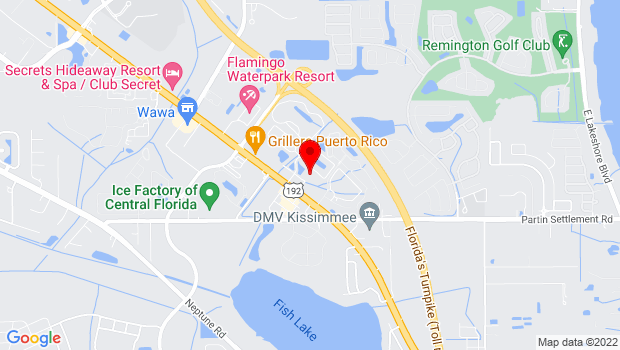 Google Map of 2411 East Irlo Bronsons Memorial Hwy, Kissimmee, FL 34744