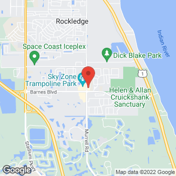 Map of Verizon Authorized Retailer, TCC at 3705 Murrell Road, Rockledge, FL 32955