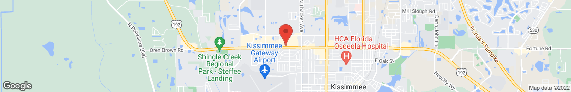 Map of 2509 W. Vine Street in Kissimmee