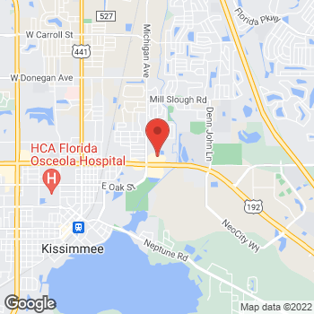 Map of Citi Trends at 1355 E. Vine St, Kissimmee, FL 34744