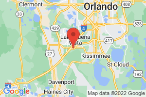 Map of Orlando and Disney Area