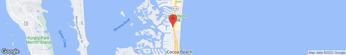 Map of 1245 N. Atlantic Ave. in Cocoa Beach