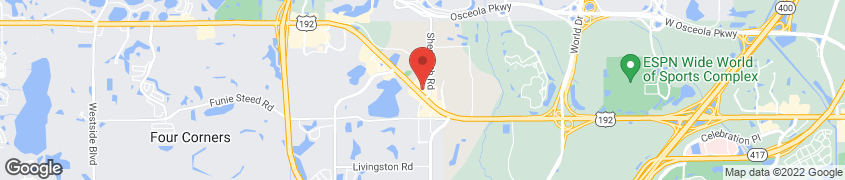 Map of 7632 W IRLO BRONSON  HWY in KISSIMMEE