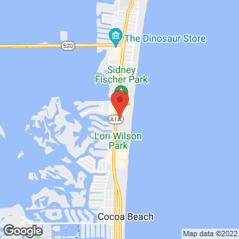 Map of Shane Hernesman, MD at 1980 N. Atlantic Ave, Cocoa Beach, FL 32931