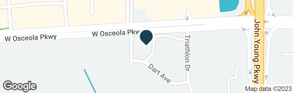 Google Map of1880 W OSCEOLA PKWY