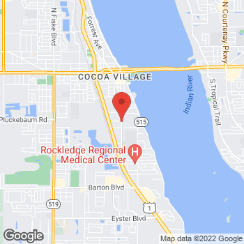 Map of Lizzy Thomas, MD at 1024 S. Florida Avenue, Rockledge, FL 32955