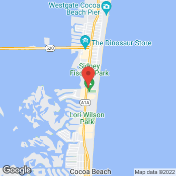 Map of Patsamatla Kishore, MD at 3000 North Atlantic Avenue, Cocoa Beach, FL 32931
