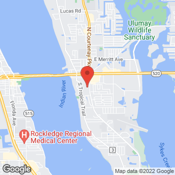 Map of Christopher Girgis, MD at 245 S Courtenay Parkway, Merritt Island, FL 32952