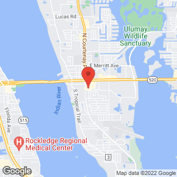 Map of Ricardo Serrano, MD at 30 Fortenberry Road, Merritt Island, FL 32952