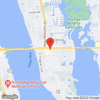 Map of Hair Cuttery at 125 E Merritt Island Causeway Ste 209, Merritt Island, FL 32952