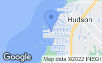 Map of Hudson, FL