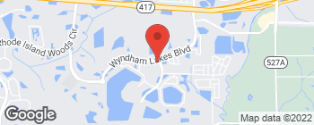 Map of 14846 Wyndham Lakes Blvd in Orlando