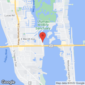 Map of M. Keith . McCullar, MD at 150 North Skyes Creek Parkway, Merritt Island, FL 32953
