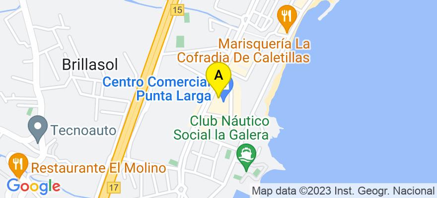 situacion en el mapa de . Direccion: Rambla Los Menceyes, 10, Centro de Negocios Puntalarga, Oficina 9, 38530 Candelaria. Santa Cruz de Tenerife