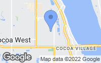 Map of Cocoa, FL