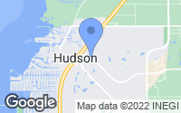 Map of Hudson, FL