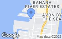 Map of Cocoa Beach, FL