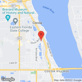 Map of Citi Trends at 801 Dixon Blvd, Cocoa, FL 32922