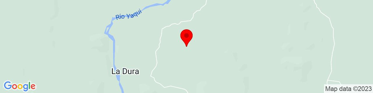 Google Map of 28.38333, -109.55