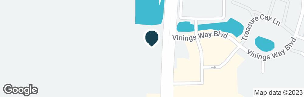 Google Map of12100 S APOPKA VINELAND RD