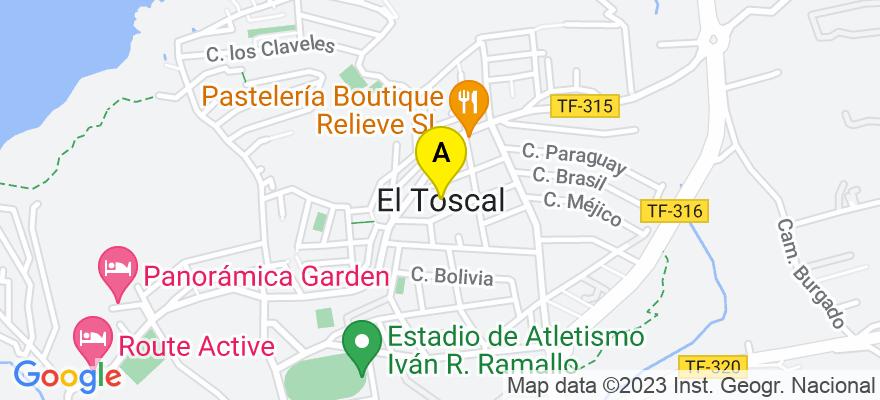 situacion en el mapa de . Direccion: C/ MEDIA CUESTA, 3, ED. CANAIMA I, EL TOSCAL, 38410 Los Realejos. Santa Cruz de Tenerife