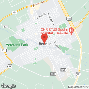 Map of Cash Pawn at 201 W Houston St, Beeville, TX 78102