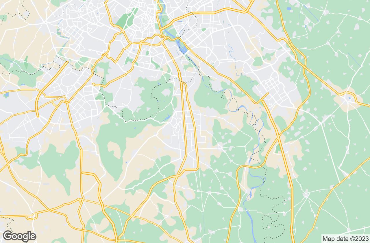 Google Map of Faridabad