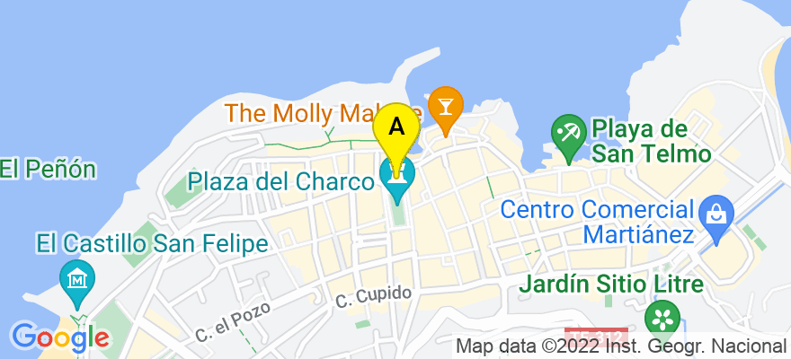 situacion en el mapa de . Direccion: Plaza del Charco, Edificio Centro, Nº 8 , 1º A., 38400 Puerto de la Cruz. Santa Cruz de Tenerife