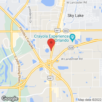 Map of Arby's at 8586 S Orange Blossom Trail, Orlando, FL 32809-7971