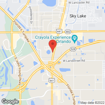 Map of Arby's at 8586 S Orange Blossom Trail, Orlando, FL 32809