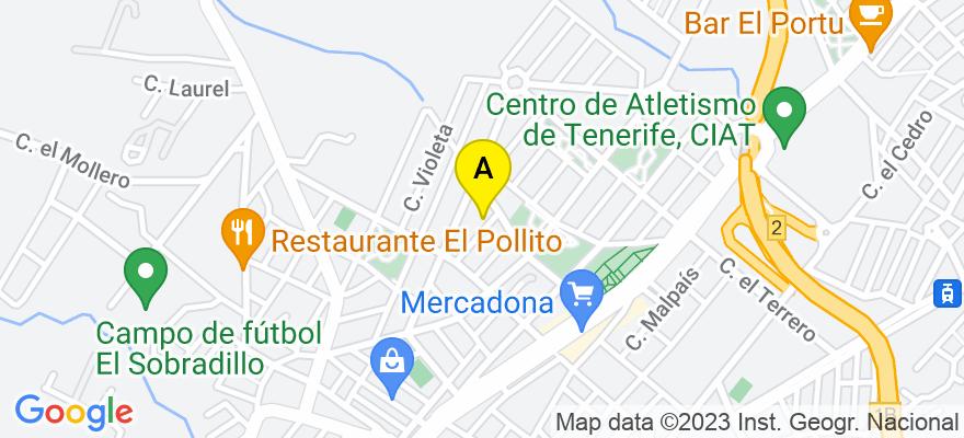 situacion en el mapa de . Direccion: C/ Sorondongo, nº 6, 38205 Santa Cruz de Tenerife. Santa Cruz de Tenerife