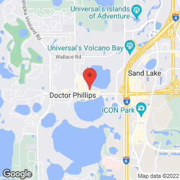 Map of Hair Cuttery - Closed at 7581 W Sand Lake Rd, Orlando, FL 32819
