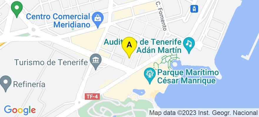 situacion en el mapa de . Direccion: C/ Los Llanos Seis 5, 1º K, 38003 Santa Cruz de Tenerife. Santa Cruz de Tenerife