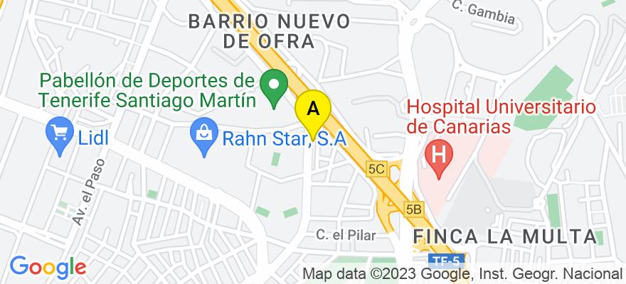 situacion en el mapa de . Direccion: Avenida de Los Majuelos, 3 A, 1º D, 38108 San Cristóbal de La Laguna. Santa Cruz de Tenerife