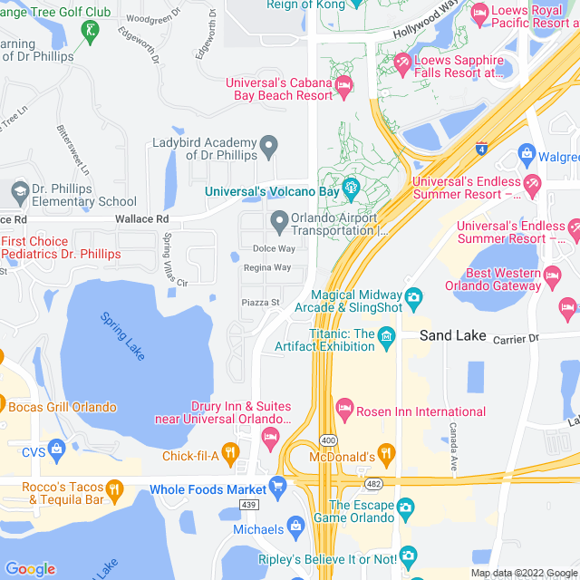 Map of Orlando East Bypass