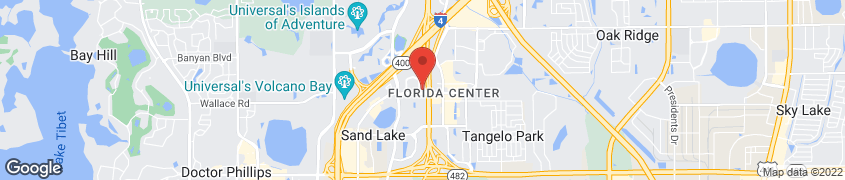 Map of 5825 International in Orlando