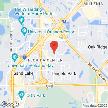 Map of Bed Bath & Beyond at 5295 International Drive, Orlando, FL 32819