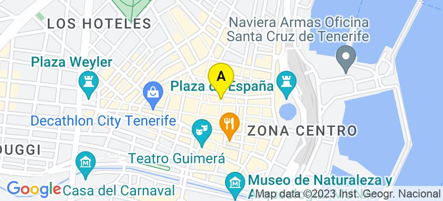 situacion en el mapa de . Direccion: C/ Bethencourt Alfonso, 23-4B, 38002 Santa Cruz de Tenerife. Santa Cruz de Tenerife