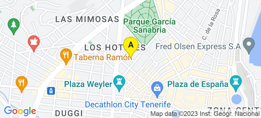 situacion en el mapa de . Direccion: Calle Castillo 23 2º b, 38002 Santa Cruz de Tenerife. Santa Cruz de Tenerife