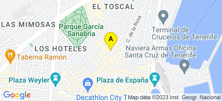 situacion en el mapa de . Direccion: C/. Santa Rosalía nº 49, 38002 Santa Cruz de Tenerife. Santa Cruz de Tenerife