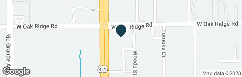 Google Map of5903 S ORANGE BLOSSOM TRL
