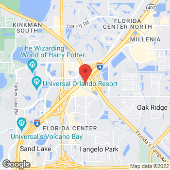 Map of Panera Bread at 4969 International Dr, Orlando, FL 32819