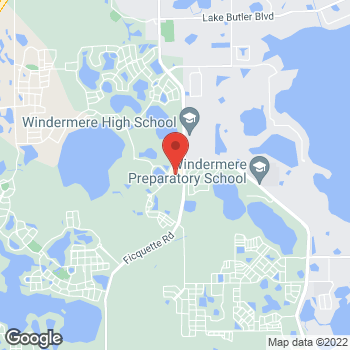 Map of Hair Cuttery at 13500 Summerport Village Pkwy, Windermere, FL 34786