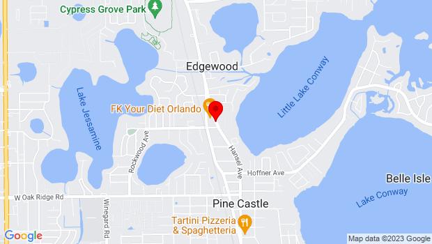 Google Map of 5442 Hansel Avenue, Orlando, FL 32809