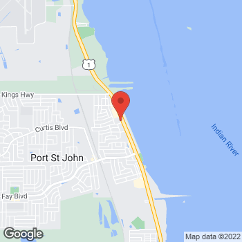 Map of Alphonse Pecoraro, MD at 7227 N US Highway 1, Cocoa, FL 32927