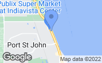 Map of Port Saint John, FL