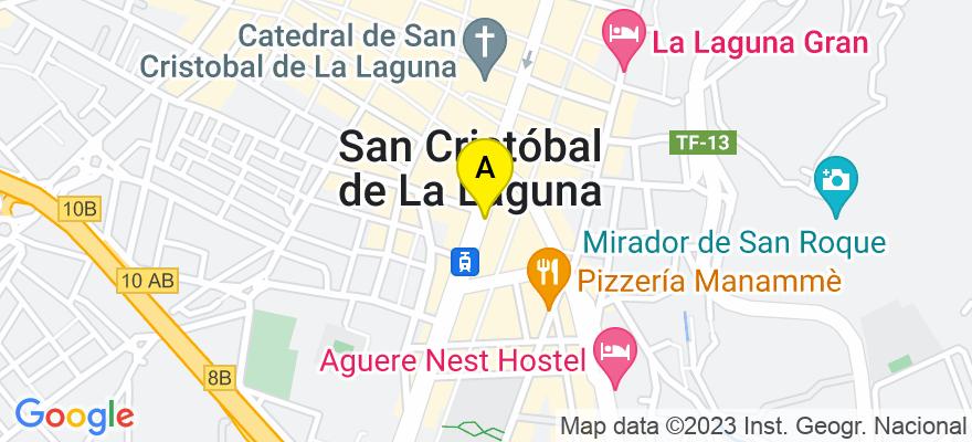 situacion en el mapa de . Direccion: avenida trinidad 13, 4º, 38204 San Cristóbal de La Laguna. Santa Cruz de Tenerife