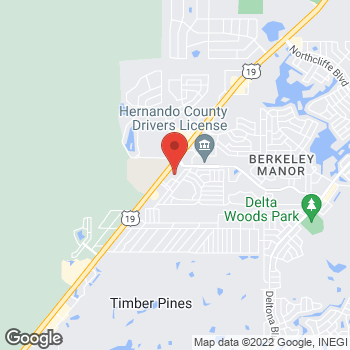 Map of Staples at 4210 Commercial Way, Spring Hill, FL 34606